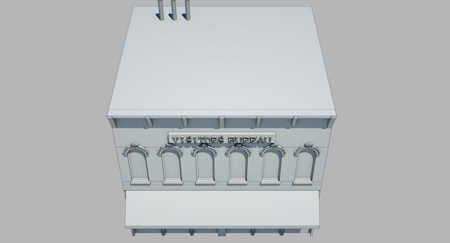Visitors Bureau Building royalty-free 3d model - Preview no. 27