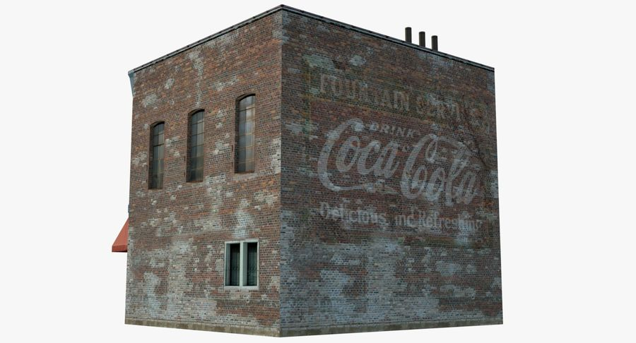 Visitors Bureau Building royalty-free 3d model - Preview no. 13