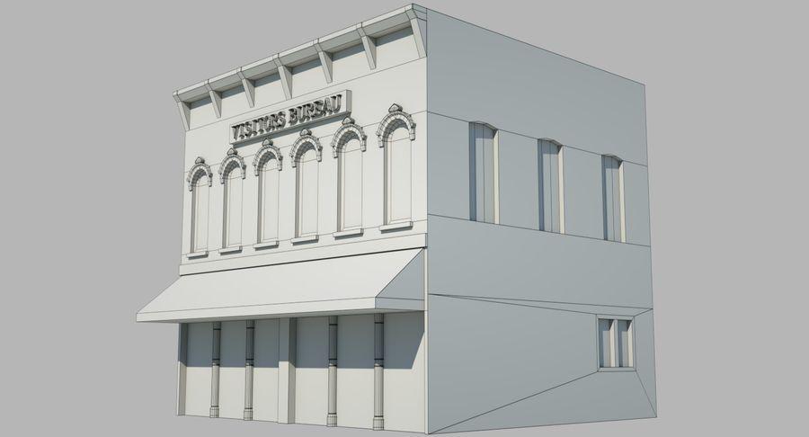 Visitors Bureau Building royalty-free 3d model - Preview no. 9