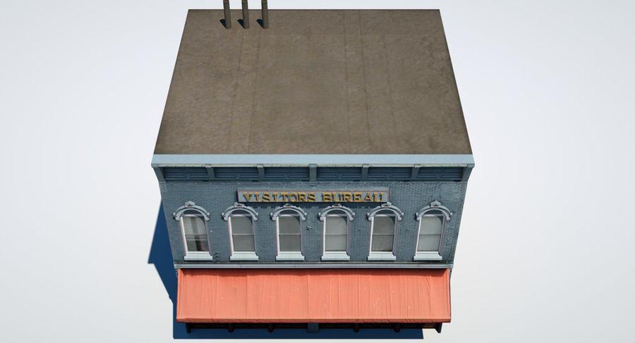 Visitors Bureau Building royalty-free 3d model - Preview no. 26