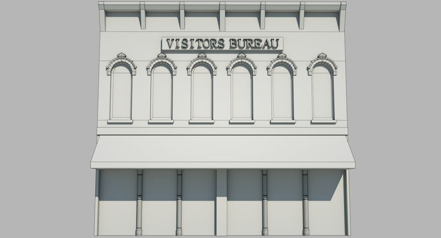 Visitors Bureau Building royalty-free 3d model - Preview no. 6