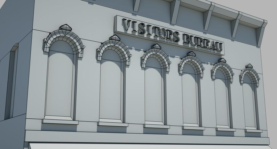 Visitors Bureau Building royalty-free 3d model - Preview no. 24