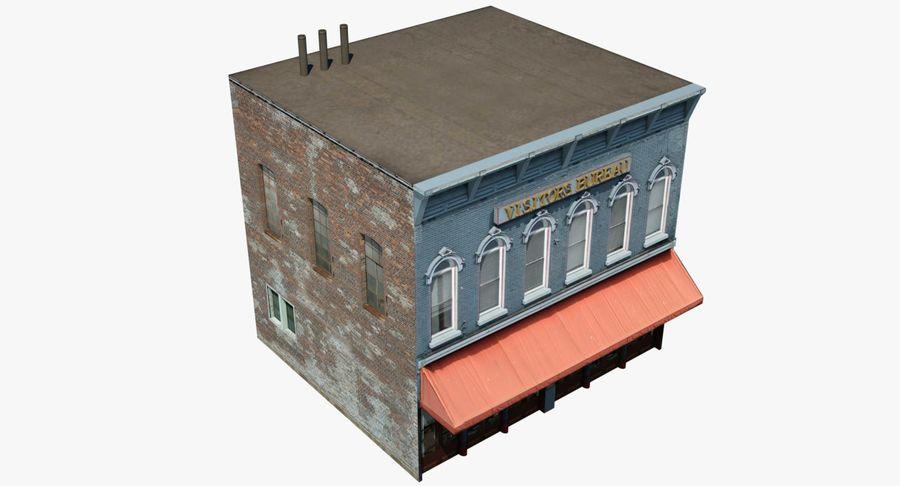 Visitors Bureau Building royalty-free 3d model - Preview no. 19