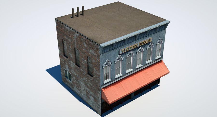 Visitors Bureau Building royalty-free 3d model - Preview no. 20