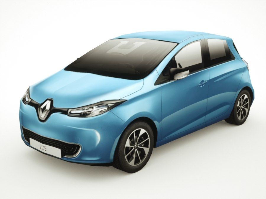 Renault Zoe 2017 royalty-free 3d model - Preview no. 1