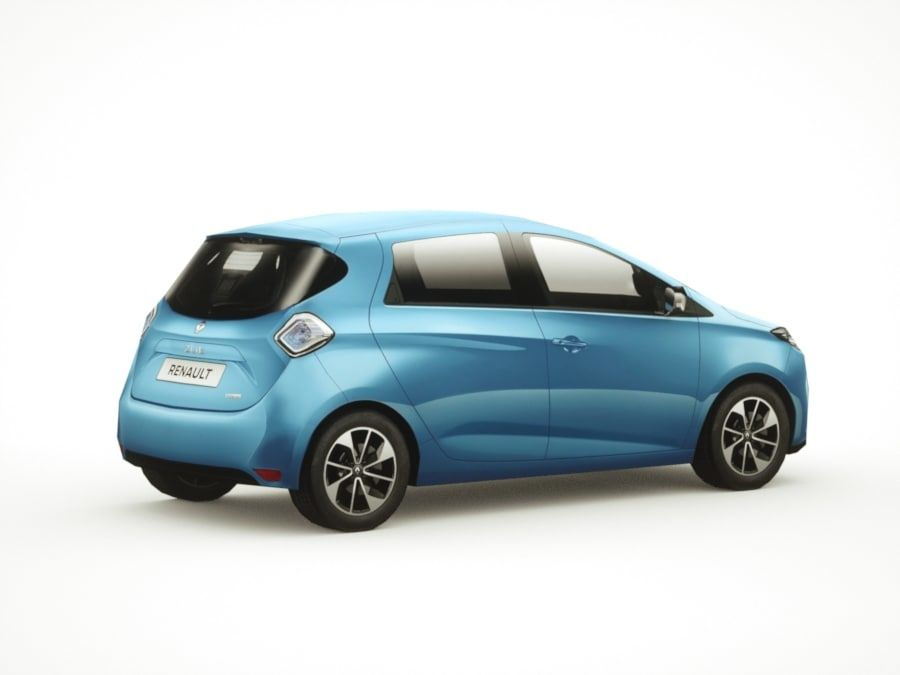Renault Zoe 2017 royalty-free 3d model - Preview no. 8