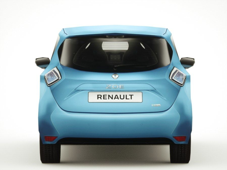 Renault Zoe 2017 royalty-free 3d model - Preview no. 5