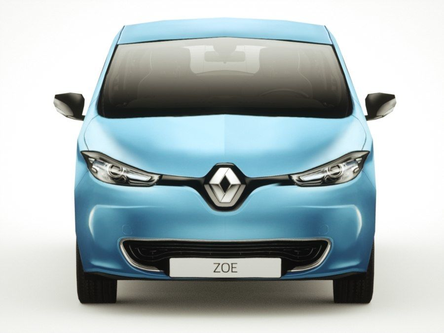 Renault Zoe 2017 royalty-free 3d model - Preview no. 6