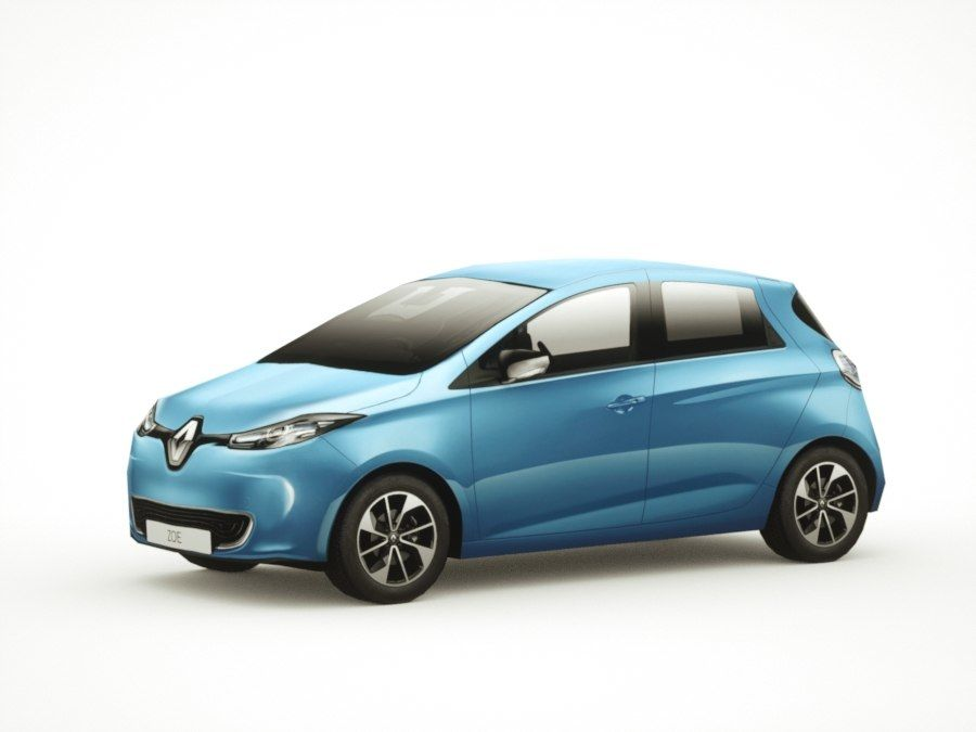 Renault Zoe 2017 royalty-free 3d model - Preview no. 7