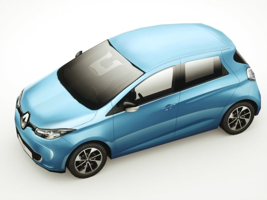 Renault Zoe 2017 royalty-free 3d model - Preview no. 3