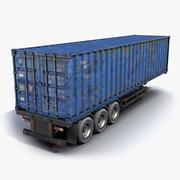 货物拖车生锈 3d model