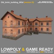Lowpoly two-floor old brick building - old_brick_building_003d.rar 3d model