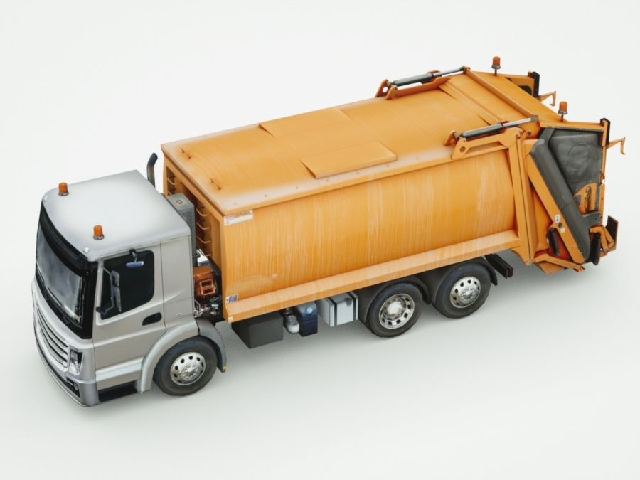 Generic Garbage truck royalty-free 3d model - Preview no. 3