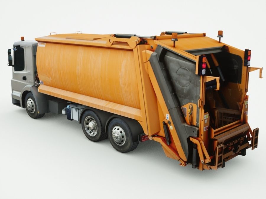 Generic Garbage truck royalty-free 3d model - Preview no. 2