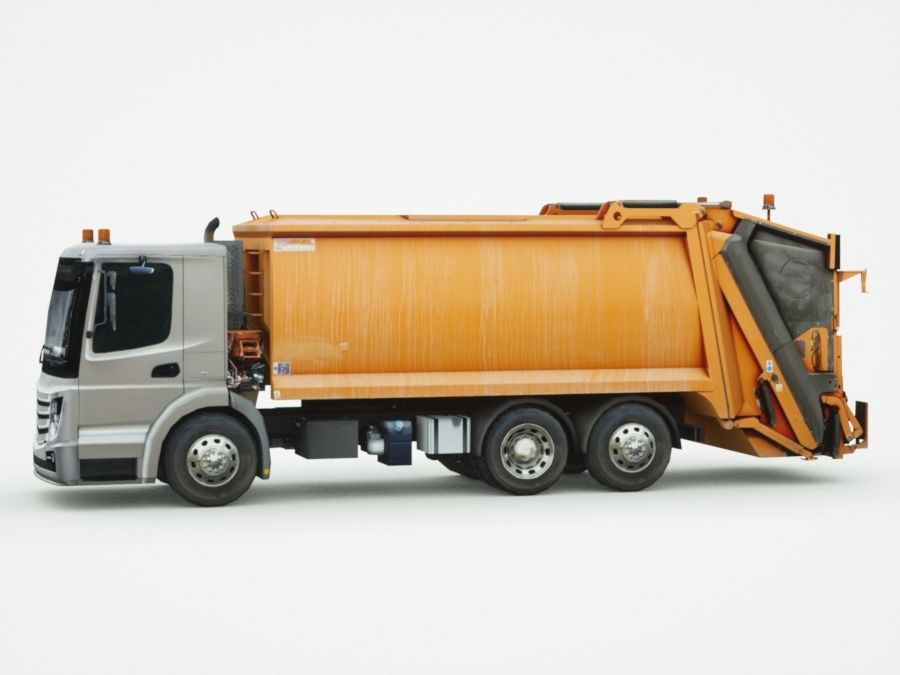 Generic Garbage truck royalty-free 3d model - Preview no. 7