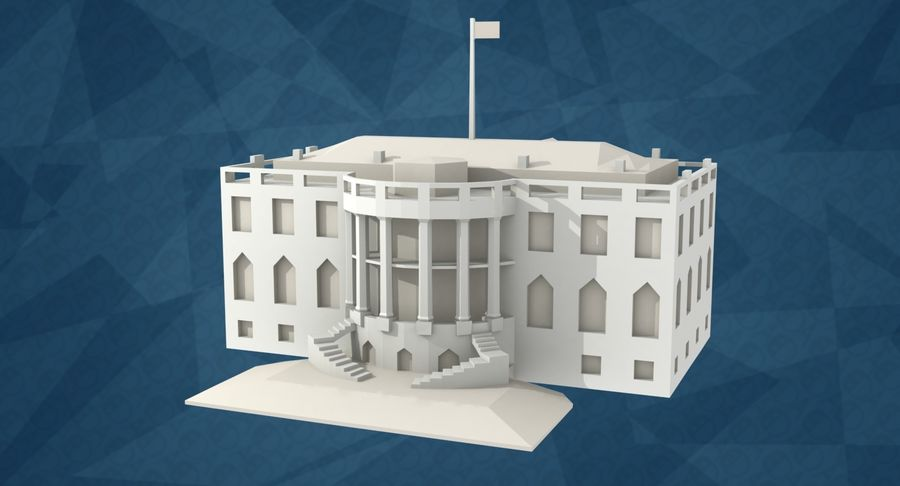 The White House Low Poly With Surprise Bonus 3d Model 39