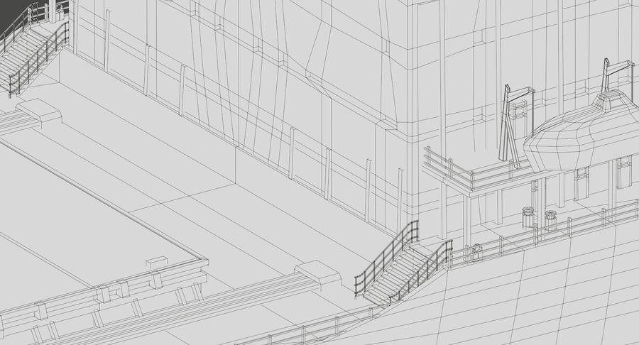 Bulker Ship royalty-free 3d model - Preview no. 24