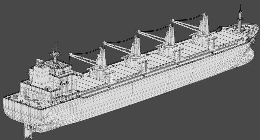 Bulker Ship royalty-free 3d model - Preview no. 17