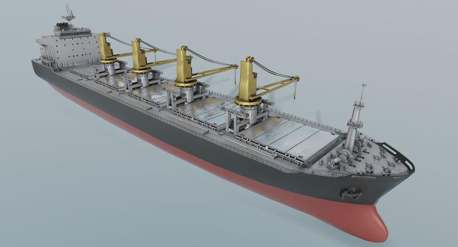 Bulker Ship royalty-free 3d model - Preview no. 3