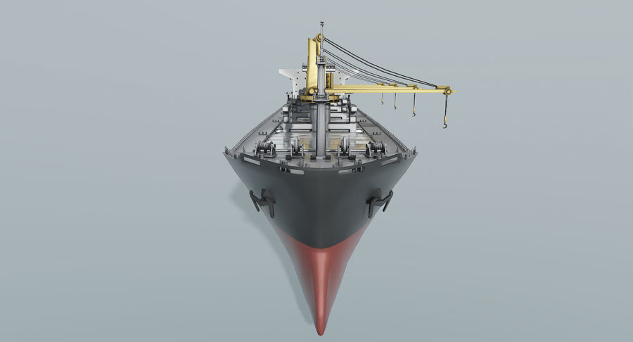 Bulker Ship royalty-free 3d model - Preview no. 6