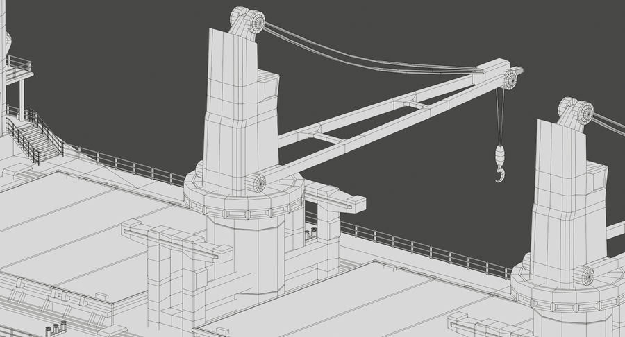 Bulker Ship royalty-free 3d model - Preview no. 22