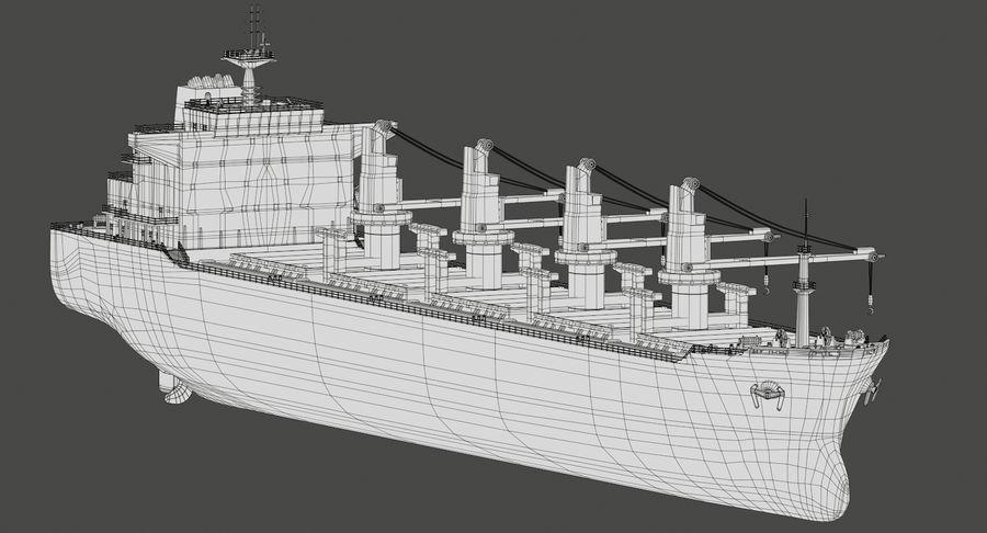 Bulker Ship royalty-free 3d model - Preview no. 16