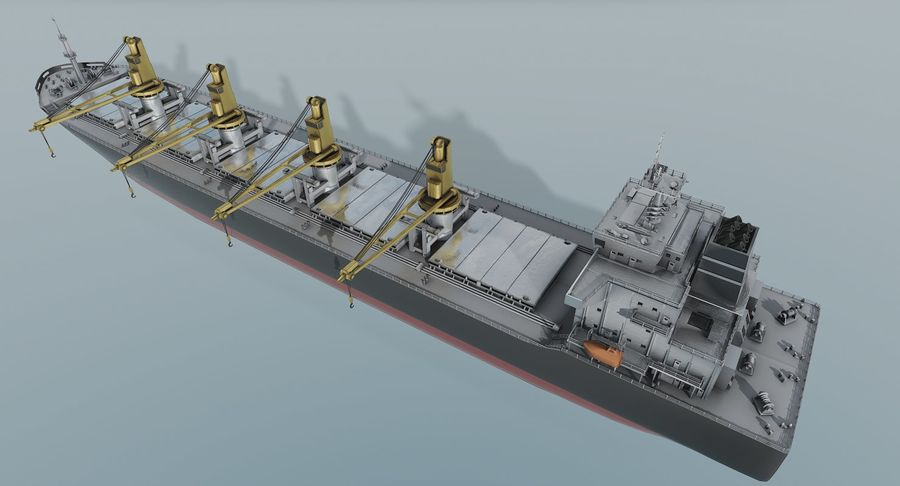 Bulker Ship royalty-free 3d model - Preview no. 5