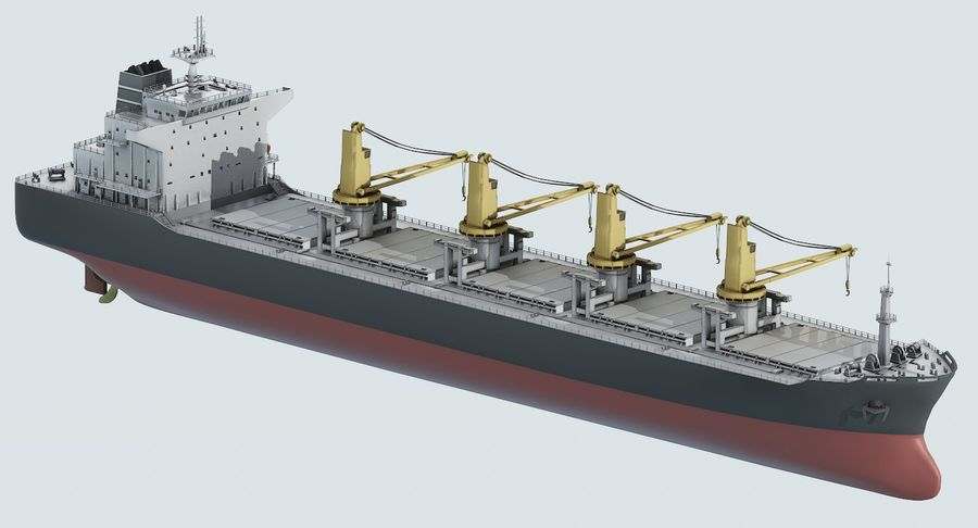 Bulker Ship royalty-free 3d model - Preview no. 9