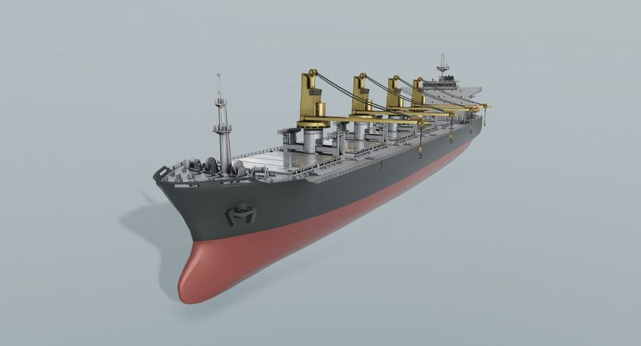 Bulker Ship royalty-free 3d model - Preview no. 2