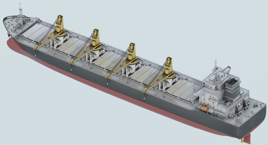 Bulker Ship royalty-free 3d model - Preview no. 11