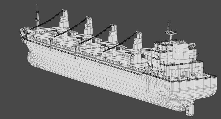 Bulker Ship royalty-free 3d model - Preview no. 18
