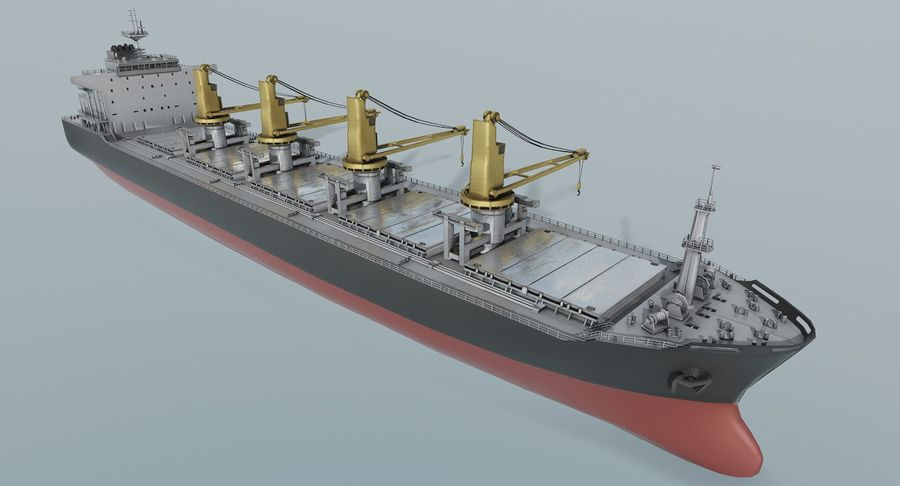 Bulker Ship royalty-free 3d model - Preview no. 3