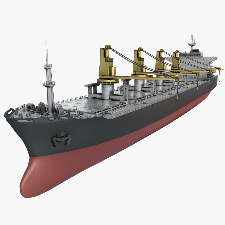 Bulker Ship royalty-free 3d model - Preview no. 1
