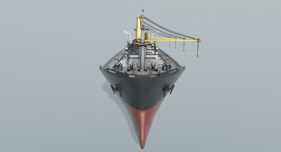 Bulker Ship royalty-free 3d model - Preview no. 6