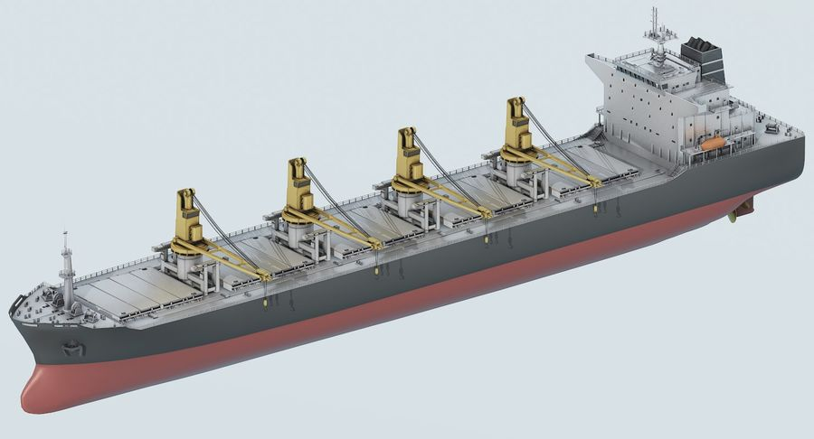 Bulker Ship royalty-free 3d model - Preview no. 8