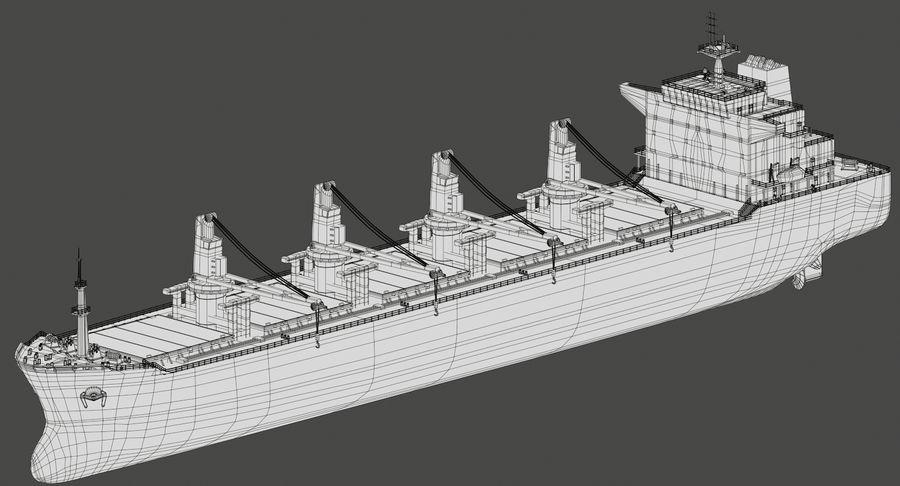 Bulker Ship royalty-free 3d model - Preview no. 15