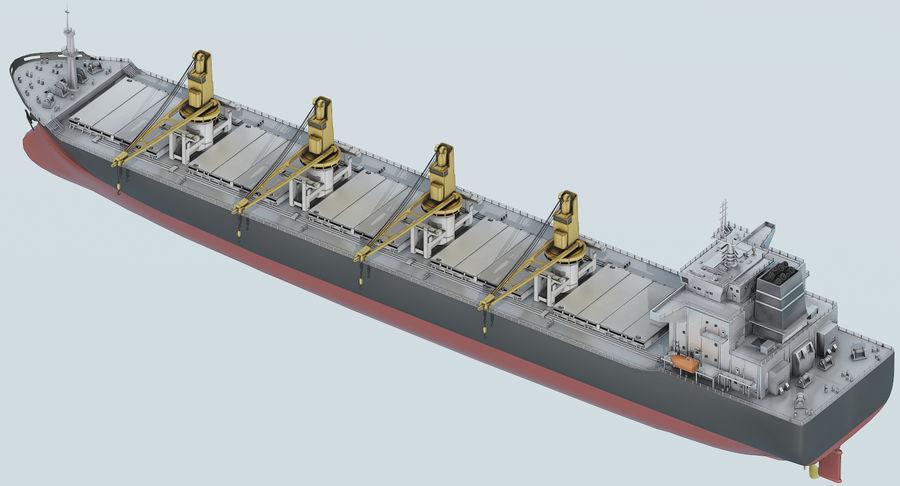 Bulker Ship royalty-free 3d model - Preview no. 11