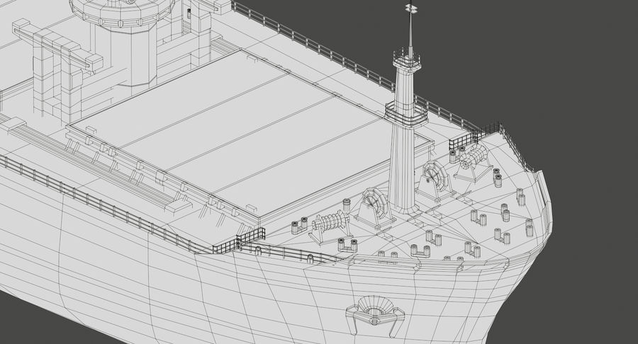 Bulker Ship royalty-free 3d model - Preview no. 23
