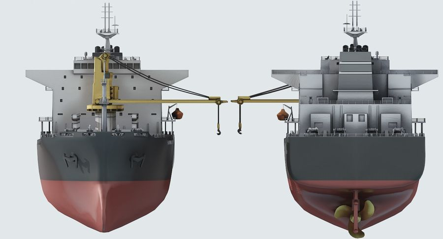 Bulker Ship royalty-free 3d model - Preview no. 12