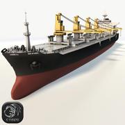 Bulker ship HD low poly 3d model