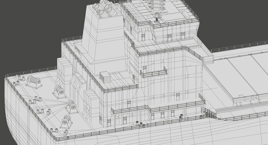Bulker Ship royalty-free 3d model - Preview no. 21