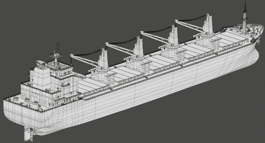 Bulker Ship royalty-free 3d model - Preview no. 17