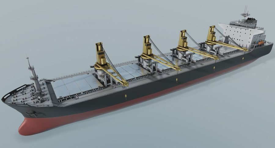 Bulker Ship royalty-free 3d model - Preview no. 7