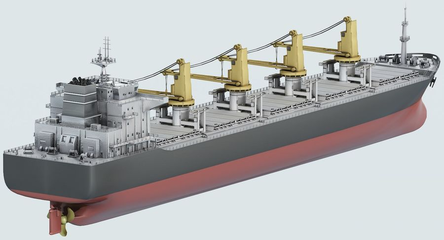 Bulker Ship royalty-free 3d model - Preview no. 10