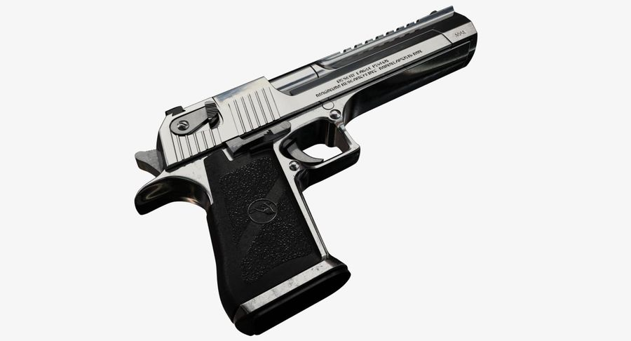 Desert Eagle royalty-free 3d model - Preview no. 2