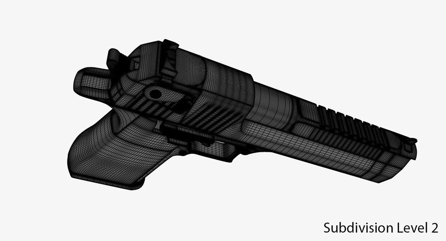 Desert Eagle royalty-free 3d model - Preview no. 13
