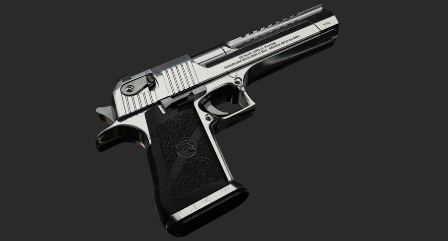Desert Eagle royalty-free 3d model - Preview no. 3