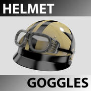 Helmet with Goggles 3d model