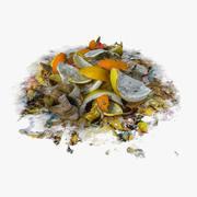 Fruit Street Junk Pile Banana Orange Grocery Edible Damage Prop Rubble Polution 3d model