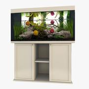 Tropical aquarium 3d model